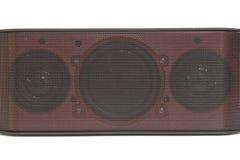 Mini bluetooth loudspeaker on white background. Mini bluetooth loudspeaker isolated on white background Stock Photo