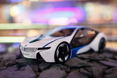 Mini BMW modelo i8 Fotos de Stock Royalty Free
