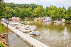 Mini Boat Dock Imagens de Stock