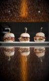 Mini bocadillos de la hamburguesa Imagenes de archivo