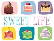 Mini bolos ilustração stock