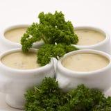 Mini bols de potage d'apéritif Images libres de droits