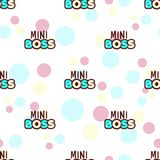 Mini boss seamless pattern