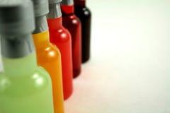Mini botellas de la barra fotografía de archivo libre de regalías