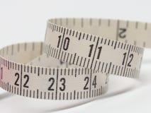 Mini branco de medição da fita Foto de Stock Royalty Free
