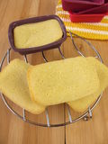 Mini-breads made from maize flour stock image
