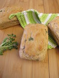 Mini breads with sprouts Royalty Free Stock Image
