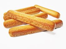 Mini breadsticks close up Stock Images