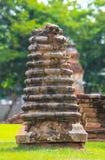 Mini Brick in Wat Chai Watthanaram Lizenzfreie Stockbilder