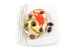 Mini broodpizza Stock Afbeeldingen