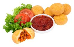 Mini Buffet Doughnuts riempito saporito Fotografia Stock