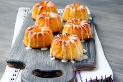 Mini bundt cakes with glaze Stock Photography