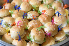 Mini burger Stock Photography