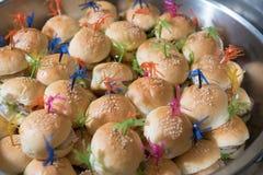 Mini burger Stock Photos