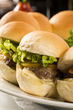 Mini burger with cheese Royalty Free Stock Photography