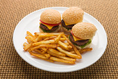 Mini Burger meal Stock Photos