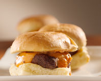 Mini burger sliders closeup Royalty Free Stock Image