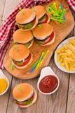 Mini Burgers foto de archivo libre de regalías
