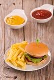 Mini Burgers fotografía de archivo libre de regalías