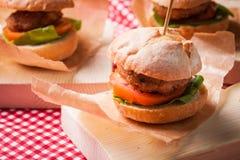 Mini Burgers Imagen de archivo libre de regalías