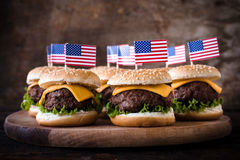 Mini Burgers Fotos de archivo