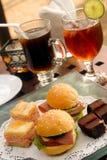 Mini Burgers Royalty-vrije Stock Afbeelding