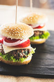 Mini burgers Stock Image