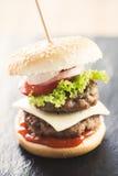 Mini burgers Stock Photos