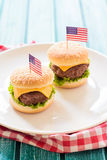 Mini burgers Royalty Free Stock Photo