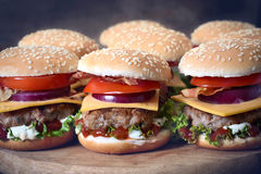 Mini burgers Royalty Free Stock Images