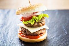 Mini burgers Royalty Free Stock Photos