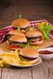 Mini Burgers immagine stock
