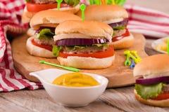 Mini Burgers fotografie stock