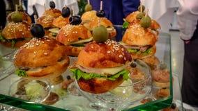 Mini burgers Royalty Free Stock Photo