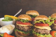 Mini Burgers imagens de stock