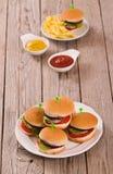 Mini Burgers imagenes de archivo