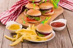 Mini Burgers imagen de archivo