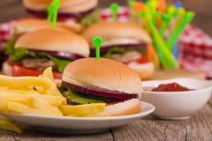Mini Burgers foto de archivo