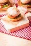 Mini burgers Stock Images