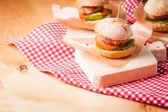 Mini burgers Stock Image