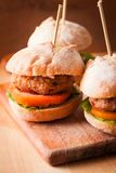 Mini burgers Royalty Free Stock Photography