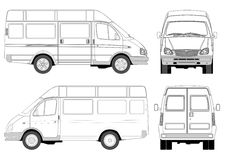Mini bus stock illustratie