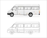 Mini bus royalty free illustration