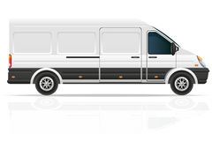 Mini bus for the carriage of cargo vector illustration Stock Photos