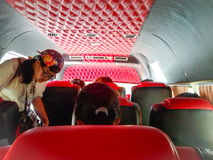 In mini bus in city Stock Photos