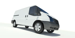 Mini bus front  view Stock Image