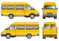 Mini bus giallo Fotografia Stock
