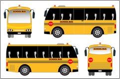 Mini bus of School bus Stock Images