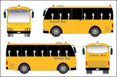 Mini bus of School bus Royalty Free Stock Photography