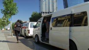 Mini bus taxi in Johannesburg. stock footage